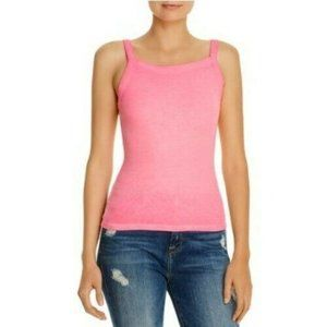 Cotton Citizen Verona Rib-Knit Tank Large Hot Pink